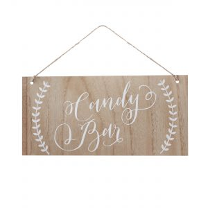 BH-729 Wooden Sign - Candy Bar - Cut Out_Fotor